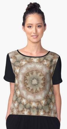 Kaleidoscope Fuzzy Beige and Brown Circular Pattern Chiffon Tops https://www.redbubble.com/people/markuk97/works/26409604-kaleidoscope-fuzzy-beige-and-brown-circular-pattern?asc=t&p=chiffon-top via @redbubble