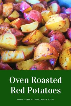 These oven roasted red potatoes are the perfect side dish to pair with any meal. Oven Roasted Red Potatoes, Cooking Red Potatoes, Fall Recipes, Great Recipes, Dinner Recipes, Recipe Ideas, Yummy Recipes, Dinner Ideas, Favorite Recipes