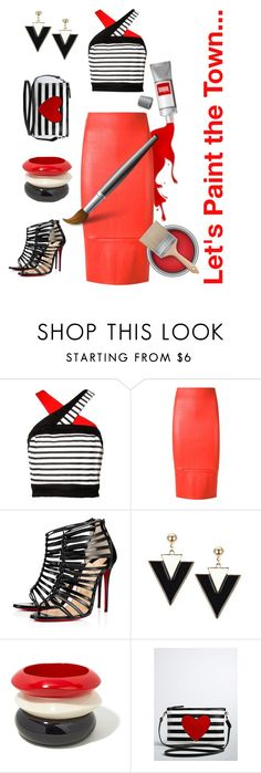 """Let's  Paint the Town..."" by kbarkstyle ❤ liked on Polyvore featuring Scanlan Theodore, Christian Louboutin and Torrid"