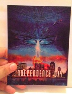 Independence Day 3D lenticular Card Flip effect New