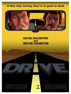 This episode is considered by many as Bryan Cranston's audition tape for Breaking Bad with that show's creator Vince Gilligan penning the teleplay. This poster, interestingly enough, was partially inspired by the artwork for Driving Miss Daisy. I used a western-style color scheme in this poster as it was one of the first ones produced after the production moved from Vancouver to Los Angeles at the beginning of season six.