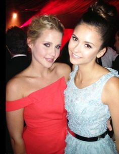 Claire Holt x Nina Dobrev - Rebekah x Elena Gilbert