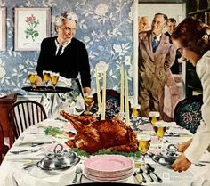 Thanksgiving Dinner, art by Douglass Crockwell.