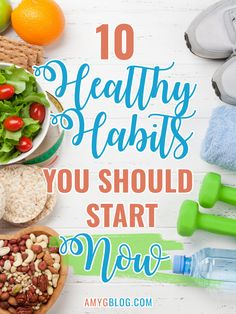 Getting into a healthy routine isn't easy, but a few steps can get you in the right direction. Look at these 10 healthy habits to start NOW to help you lead the healthy lifestyle you want to live! Healthy Living Tips, Healthy Habits, Get Healthy, Healthy Eating, Amy, Sweet Potato Breakfast, Make Good Choices, Health Fitness, Fitness Hacks