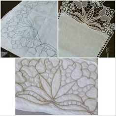 Romanian Lace, Point Lace, Cut Work, Needle Lace, Sewing Techniques, Macrame, Embroidery, Godmothers, Table Toppers