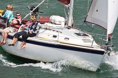 The Westerly Fulmar yacht 'Wings of Hamble' under way in the Solent. Ours is in the Deben - just love the old Fulmar! Sailboat Plans, Off Duty, Yachts, Sailing, Old Things, Wings, Pictures, Candle, Photos