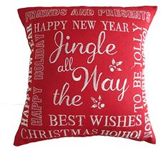 The Holiday Aisle Martell Christmas Decorative Embroidered Burlap Pillow Cover T. : The Holiday Aisle Martell Christmas Decorative Embroidered Burlap Pillow Cover The Holiday Aisle , Burlap Throw Pillows, Throw Pillow Sets, Outdoor Throw Pillows, Pillow Covers, Jingle All The Way, Decorative Throw Pillows, 5 D, Burlap Christmas, Christmas Cover