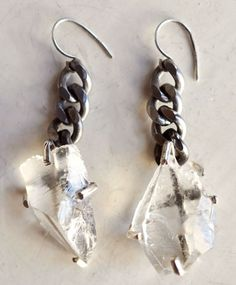 Unearthen / Quartz Shard Earrings