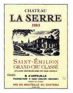 Chateau La Serre Saint Emilion 1983 Wine Label