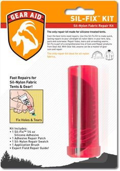 The ultralight and compact McNett Sil-Fix™ repair kit repairs Sil-Nylon fabric instantly! Ideal for tents, tarps, packs and outwear. #REIGifts