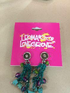 Leoma Lovegrove green, teal, and pink earrings