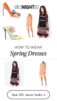 """""""Untitled #472"""" by katnat76 on Polyvore featuring Nicholas Kirkwood, Diya, Laundry by Shelli Segal, women's clothing, women, female, woman, misses and juniors"""