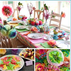 mad hatter party table setting