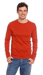 Angelo litrico T-shirt oranje. Met ronde hals-lange mouw-Katoen van gecontroleerde teelt-Huidvriendelijk, ademenden natuurlijk-Ecologisch en milieuvriendelijk-Bio Cotton - 100% Katoen. #oranje #wkvoetbal #wkbrazilie2014 #wkoranje #oranjeproducten