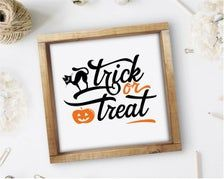 Trick Or Treat Halloween Sign Fall Quotes Print Square | Etsy Halloween Signs, Halloween Treats, Affordable Wall Art, Quote Prints, Trick Or Treat, Cool Stuff, Fall, Etsy, Home Decor