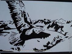 Картина, панно Вырезание, Вырезание силуэтное, Вытынанка: И снова тема птиц )) Бумага, Картон, Клей Отдых. Фото 1