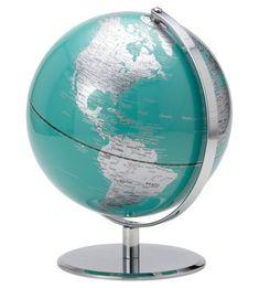 Teal Latitude Globe