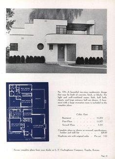 Artistic homes, ed. Vintage Architecture, Art Nouveau Architecture, Architecture Plan, Sims House Design, Vintage House Plans, Streamline Moderne, Architectural Prints, Art Deco Buildings, Art Deco Home