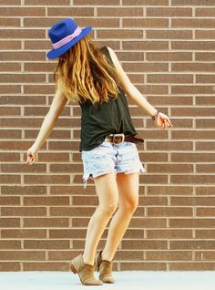 taste of summer // shorts + panama - Ascot Friday