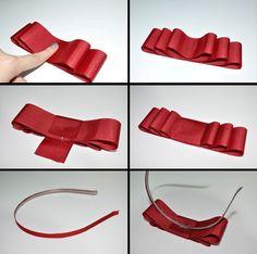 tiara de laço vermelha