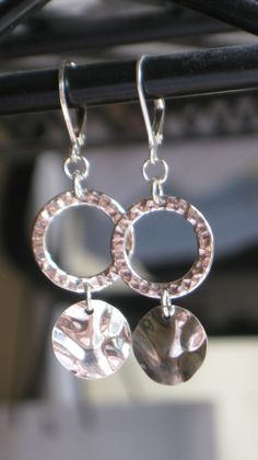 Hammered Sterling Silver Ears by 310jewelry on Etsy, $35.00