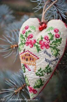 Lovely cross stitch heart