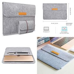 Macbook Case Sleeve Tablet Bag For Apple 12-Inch with Retina Display Light Gray