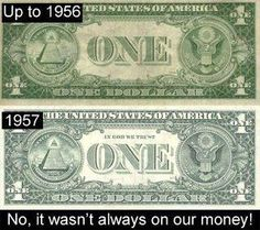It hasn't always been on our money.
