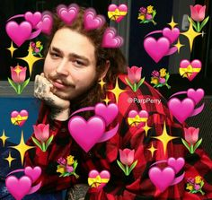Ideas For Wall Paper Cartoon Post Malone Post Malone, Memes Lindos, 100 Memes, Heart Meme, Emoji Pictures, Heart Emoji, Current Mood Meme, Cute Love Memes, When You Smile