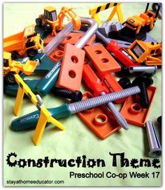 Construction theme preschool unit