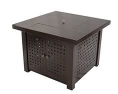 Pleasant Hearth OFG418T A Eden Square Gas Fire Pit Table, 38""