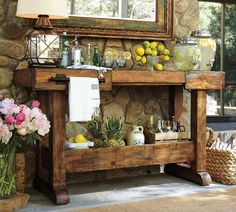 Small Butcher Block Table | Pottery Barn Kitchen Island | West Elm Round Dining Table Outdoor Rooms, Outdoor Living, Outdoor Decor, Outdoor Buffet, Rustic Outdoor, Outdoor Cupboard, Outdoor Mirror, Rustic Pergola, Outdoor Kitchens
