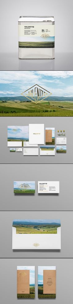 Valentto via Anagrama Olive Oil. Corporate identity stationary suite and visual identity