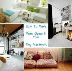 how to make more space in your tiny apartment