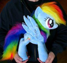 Rainbow Dash minky plushie 19 inch by Epicrainbowcrafts.deviantart.com on @DeviantArt