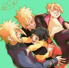 Minato,Himawari,Naruto e Boruto