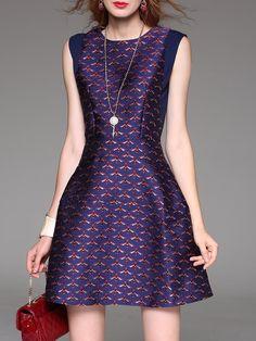 Shop Mini Dresses - A-line Animal Print Casual Sleeveless Mini Dress online. Discover unique designers fashion at StyleWe.com.