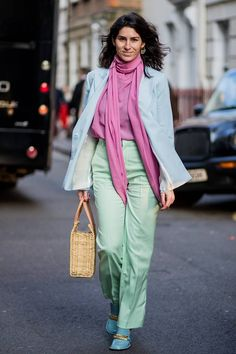 50 Street Style Snaps of the Most Colourful Outfits at London Fashion Week | Who What Wear UK