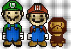 Super Mario perler bead pattern