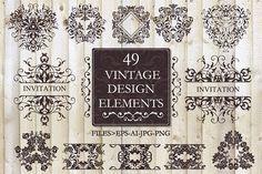Vector set  vintage design elements by Sofimix on @creativemarket