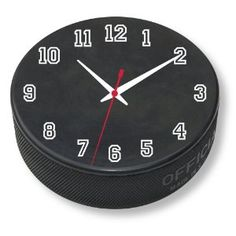 Decor for a Hockey Bedroom Theme - Puck Clock