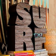 """I love the Upcycled """"Surf"""" Letters - another one for the boys room!"""