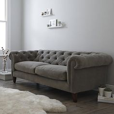 Hampstead Sofa Velvet - 2 Colours from The White Company