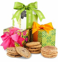 Festive Cookie Trio Three gift boxes of irresistibly delicious cookies to open & enjoy. www.imsbrandedsolutions.com