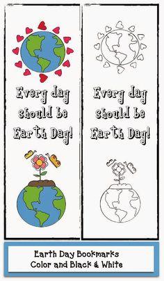 Classroom Freebies: Earth Day Bookmarks
