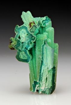 Chrysocolla after Gypsum from Arizona
