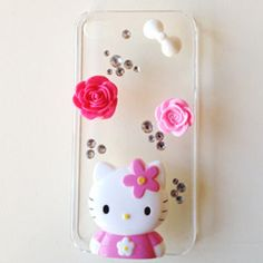 KIT PER DECORAZIONE CELLULARE - HELLO KITTY E ROSE #phone #cover #diy #case