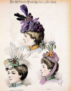 Victorian Era Hats. Sooooo cute!