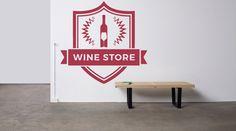 Removable Wall Decor Vinyl Sticker Mural Decal Showcase Logo Gift Bar Restaurant Drink Store Alcohol Shop Wine Premium Quality Bottle F1635