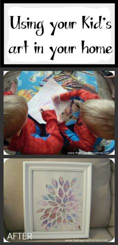 Using my kid's art for my home